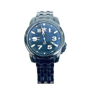 Adidas Men 42mm Watch Black Stainless Steel Bracelet Blue Dial ADH1398